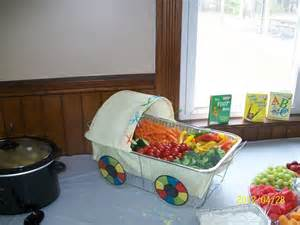 Creative quot veggie tray quot at a baby shower created by heather hunt john