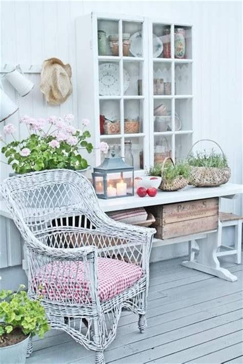 shabby chic patio dream house pinterest gardens