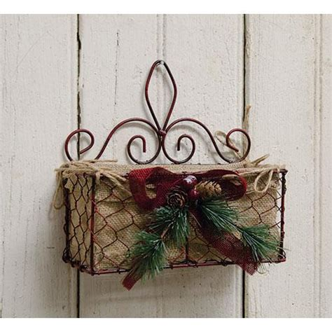 christmas chicken wire basket rustic holiday decor gift