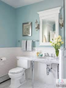 10 affordable colors for small bathrooms decorationy - Light Blue Bathroom Ideas