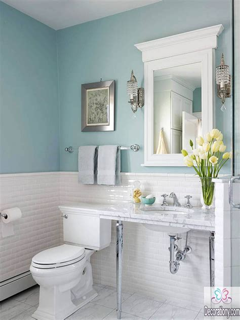 blue bathroom decor ideas 10 affordable colors for small bathrooms decorationy