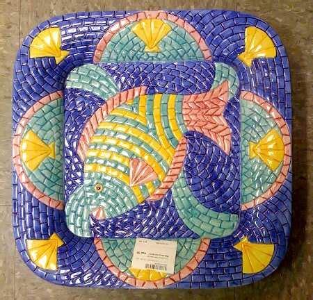 mosaic pattern dishes clay art mosaic fish at replacements ltd