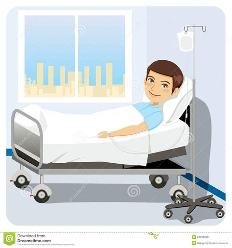 man in hospital bed man at hospital bed royalty free stock photos image 21316838