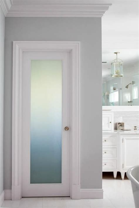 fantastic bathroom boasts  frosted glass water closet