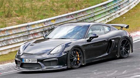Porsche Gt4rs porsche cayman gt4 rs spied exercising flat six at nurburgring