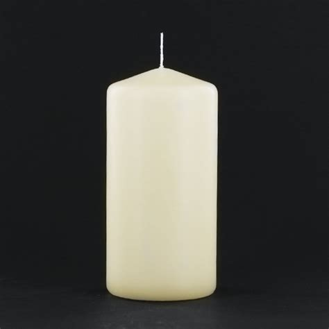 3x6 ivory pillar candle unscented