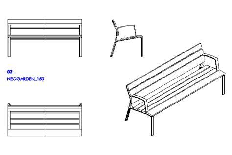 park bench cad block bloques cad autocad arquitectura download 2d 3d dwg
