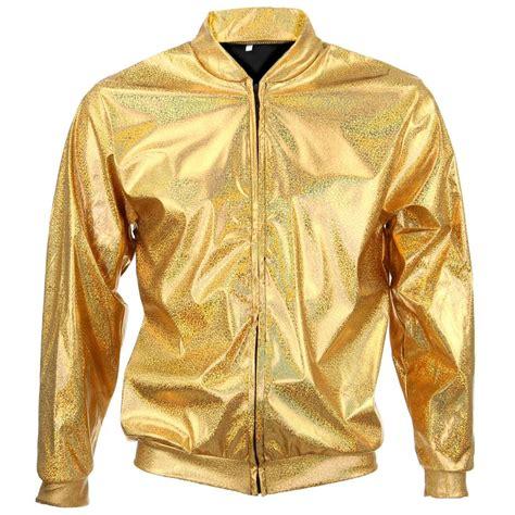 Jaket Bomber Unisex 3 bomber jacket shiny unisex firefly sparkly gold