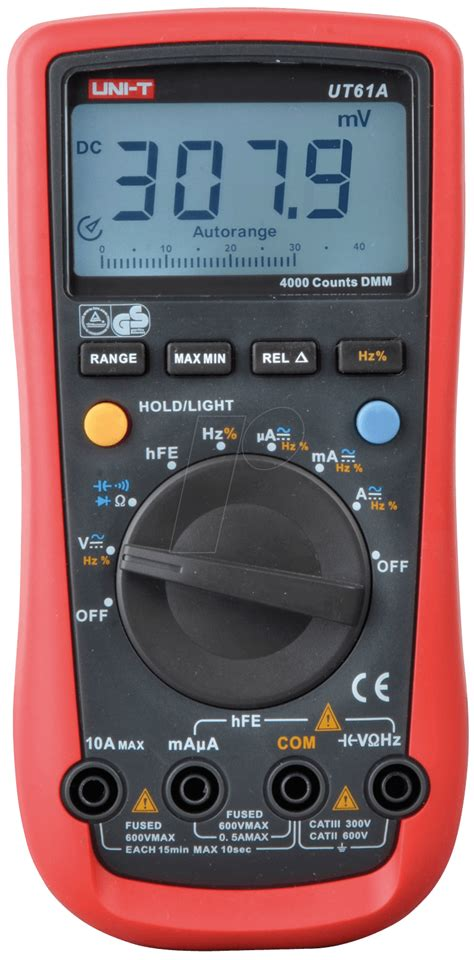 Multimeter Elektronik ut 61a uni t digital multimeter 4000 counts at reichelt