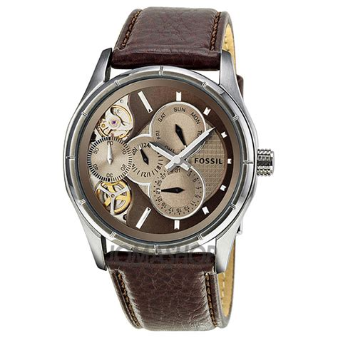Fossil Twist fossil twist multi function brown brown leather mens