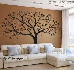 giant family tree wall sticker vinyl art home decals room large family photo tree amp birds art vinyl wall sticker