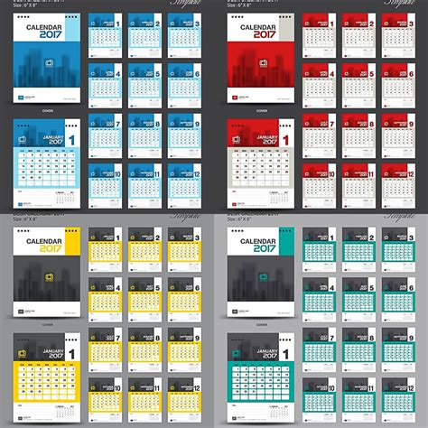 desk pad calendar 2017 desk pad calendars templates for 2017 vector free