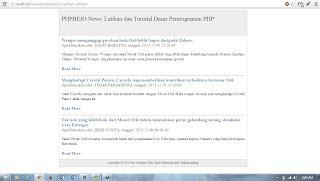membuat artikel berita dengan php phpbejo membuat cuplikan artikel readmore atau baca