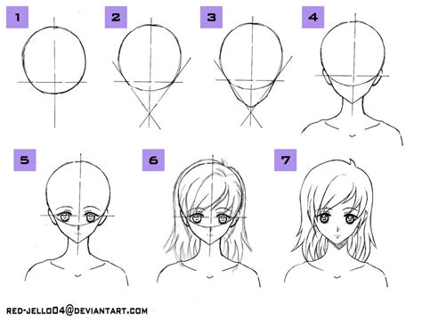 how to draw head tutorial by red jello04 on deviantart