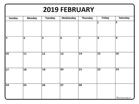 January 2019 Calendar Printable February 2019 Calendar February 2019 Calendar Printable