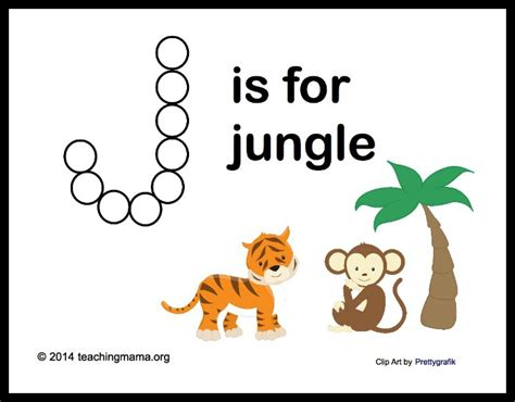 printable jungle alphabet j is for jungle letter j printables