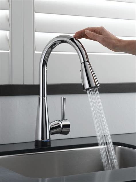 touch on kitchen faucet brizo venuto smarttouch faucet contemporary kitchen