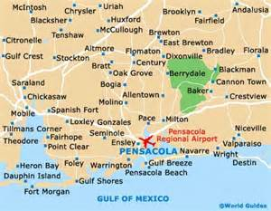 pensacola maps and orientation pensacola florida fl usa