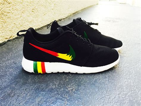 custom nike shoes for womens and mens custom rastafari color nike roshe run custom