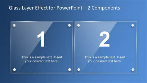 design effects powerpoint glass layer effect powerpoint template slidemodel
