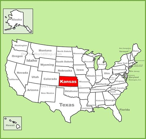 map of us states kansas map of kansas state map of usa