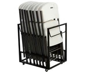 lifetime chair carts 80279 standing folding chair rack
