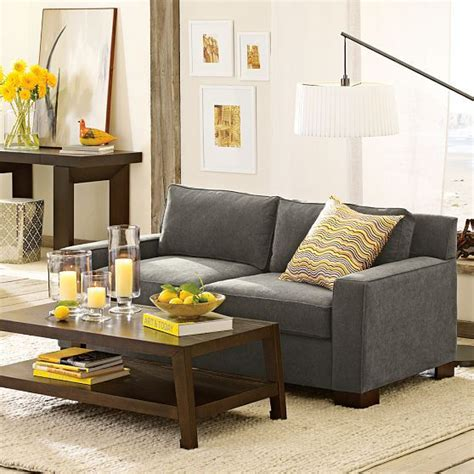 gray sofa yellow accents gray sofa with yellow accents for the home