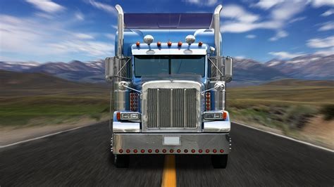 trucks on truck on the road hd wallpaper wallpapers