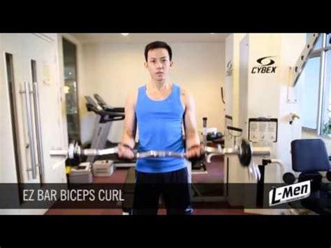 Barbel Tangan Gerakan Latihan Otot Lengan Ez Bar Biceps Curl