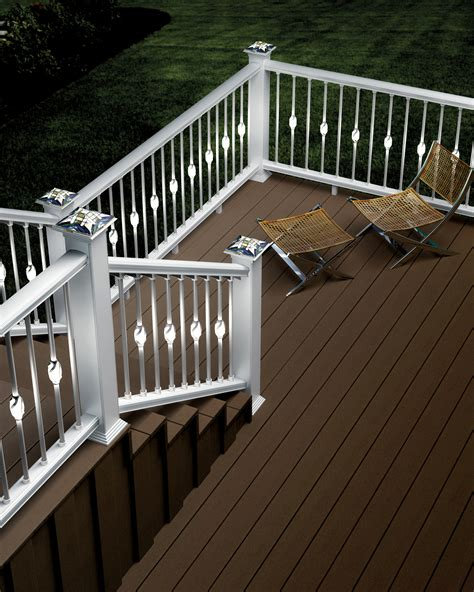 Outdoor Rail Lighting Deckorators Introduces New Low Voltage Accent Lighting For Decks And Outdoor Living Areas