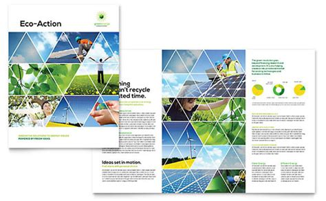 e brochure templates environmental agricultural non profit brochure template