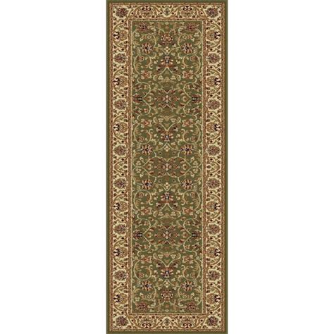green runner rug tayse rugs sensation green 2 ft 7 in x 7 ft 3 in transitional rug runner 4815 green 2x8