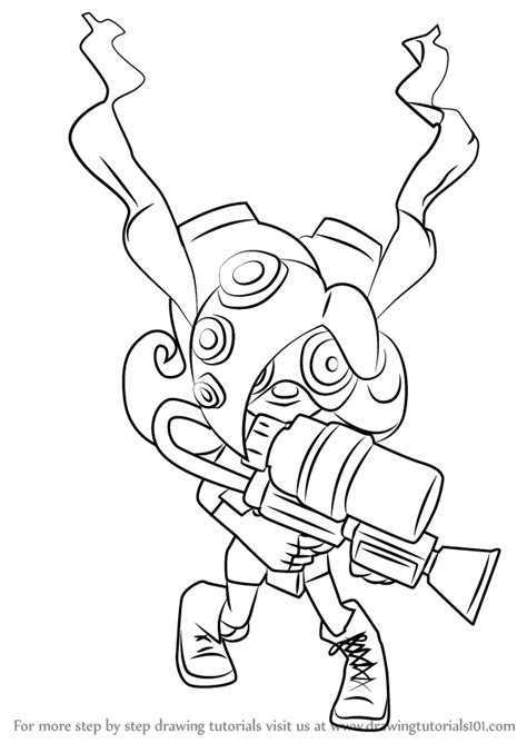 Splatoon 2 Coloring Pages by Learn How To Draw Octoling From Splatoon Splatoon Step