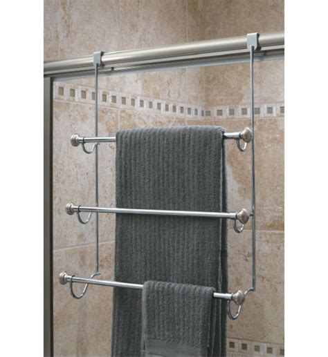 shower door towel bar interdesign the door towel rack in the door