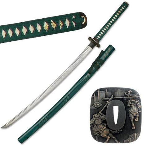 Pedang Samurai Katana Black Greend war sword