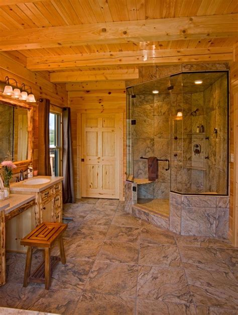 Design Your Own Bathroom supersized walk in showers for new log homes or renovations