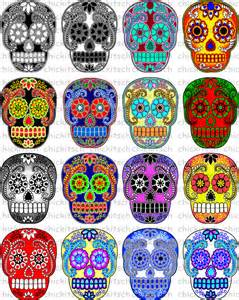 colorful sugar skull items similar to colorful sugar skull digital pictures to