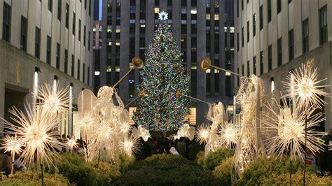wallpaper christmas in new york 2560x1440 winter christmas xmas christmas tree new