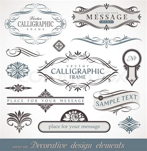 page design elements vector victorian kalligraphie zertifikat stock vektor colourbox