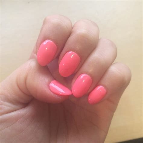 color nails and spa gel color 503 dnd orange smoothie a neon ish coral or