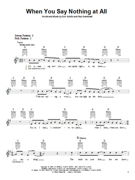 tutorial guitar when you say nothing at all when you say nothing at all sheet music by alison krauss