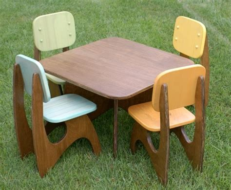 Handmade Childrens Furniture - etsy finds modern child table set handmade
