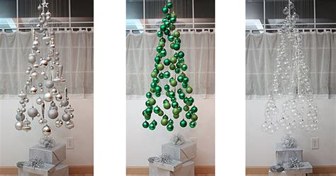 fishing line christmas tree unconventional tree ideas freshome