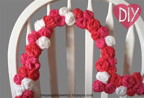 How To Make Crepe Paper Rosettes - bespangled jewelry diy crepe paper rosette frame