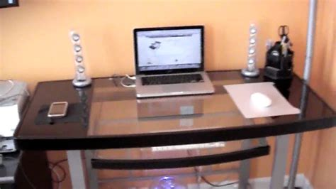 z line computer desk review z line galaxy glass computer desk