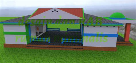 desain gapura dan rab desain dan rab kantor desa minimalis