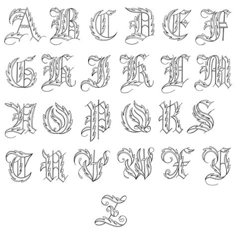 tattoo generator language fancy cursive fonts alphabet for tattoos scaninglisfo