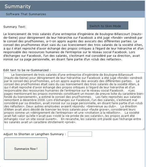 Application Qui Resume Un Texte Faire Automatiquement Le R 233 Sum 233 D Une Page Web Summarity