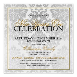 new year dinner invitation wording new years invitations announcements zazzle