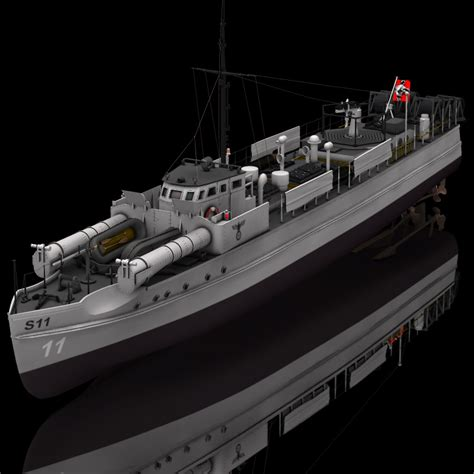 German E Boat (for Poser) 3D Models Digimation_ModelBank E Boats